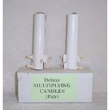 Deluxe Multiplying Candles (Pair) 4 1/2""
