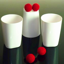 cups and balls with chop cup combo